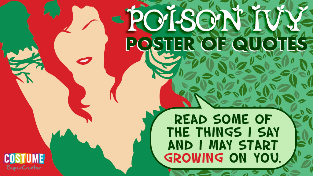 Poison Ivy Quotes Graphic